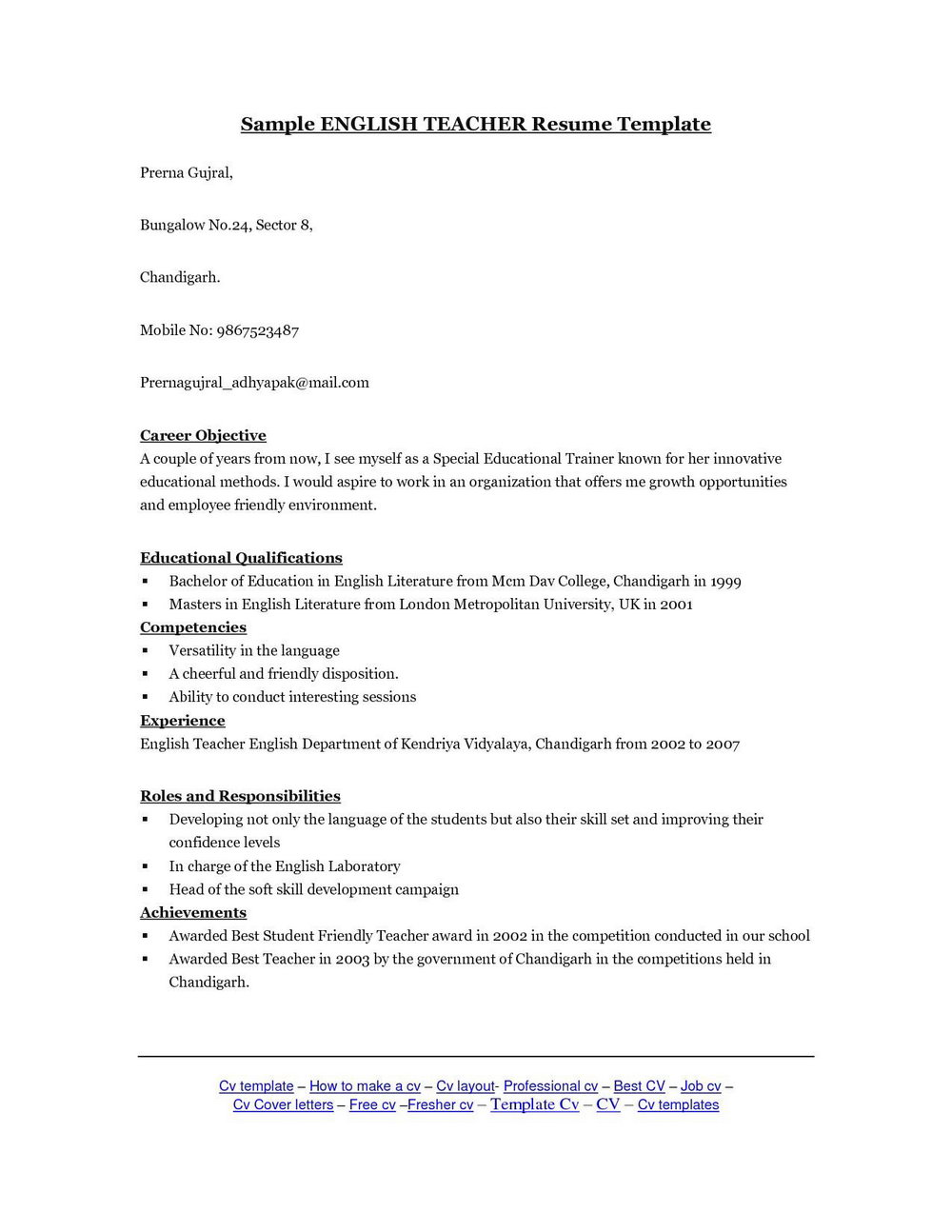 Cover Letter Sample For Resume Ojt