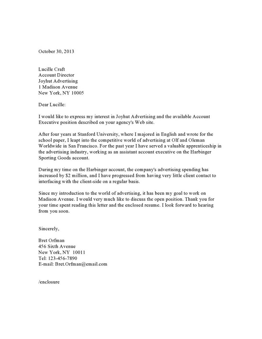 Cover Letter Sample Pdf Free Download