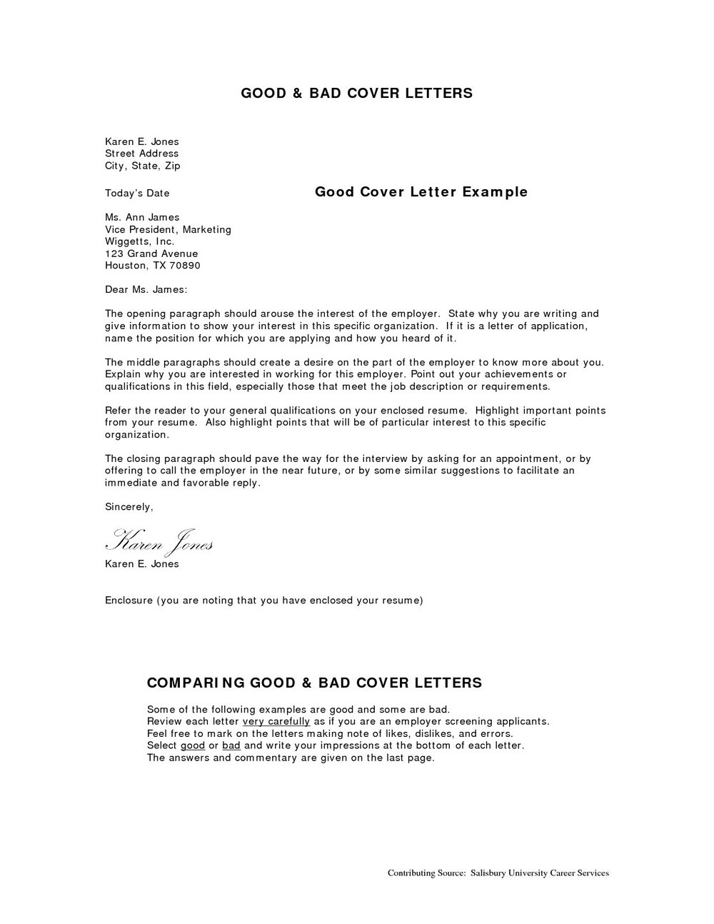 Effective Cover Letter Samples For Resume