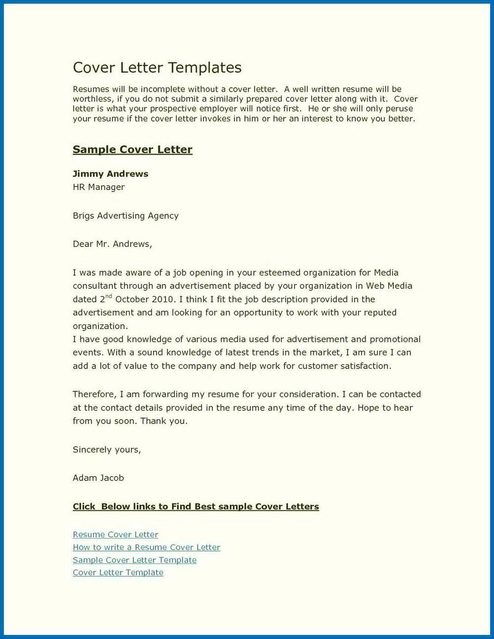 Free Cover Letter Builder Uk