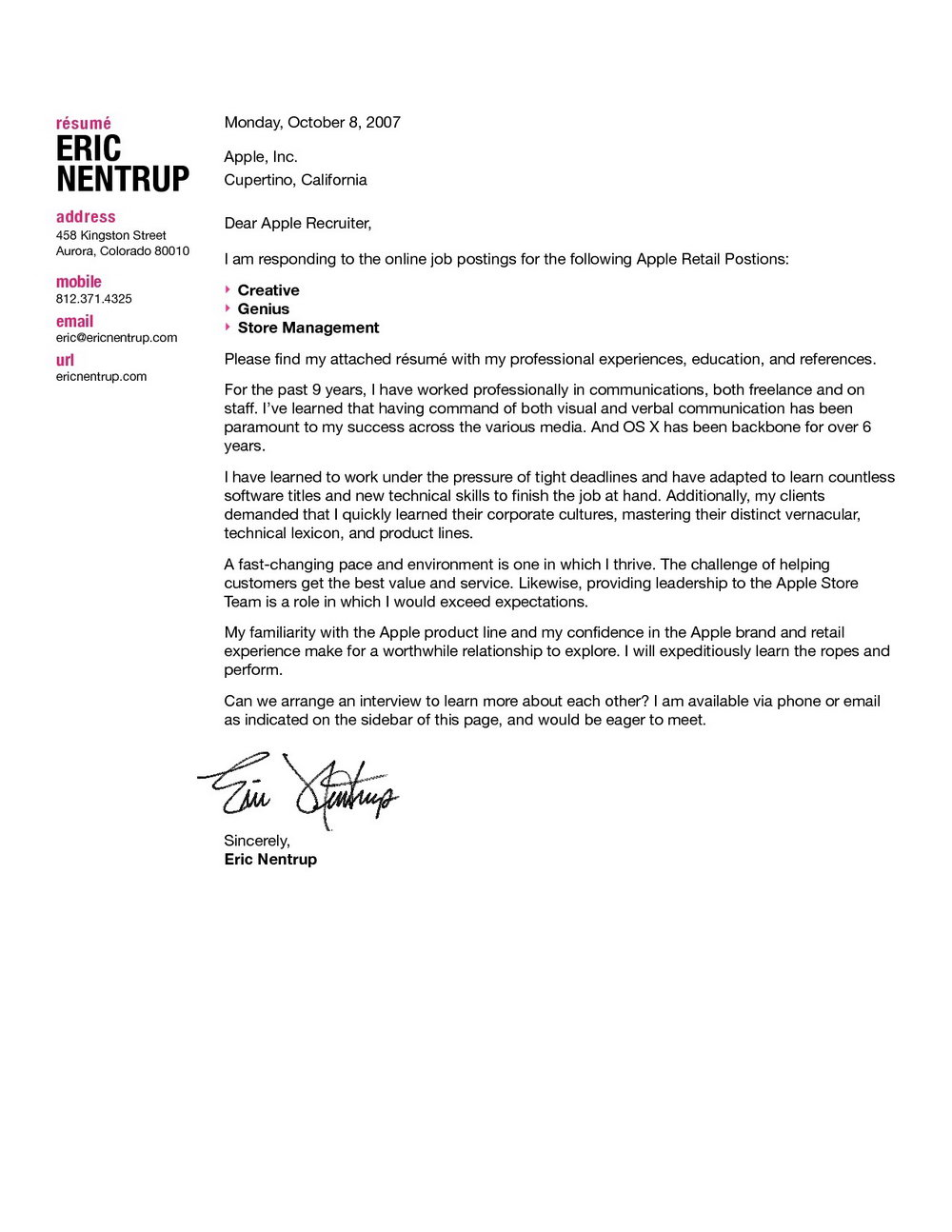 Free Cover Letter Templates For Mac