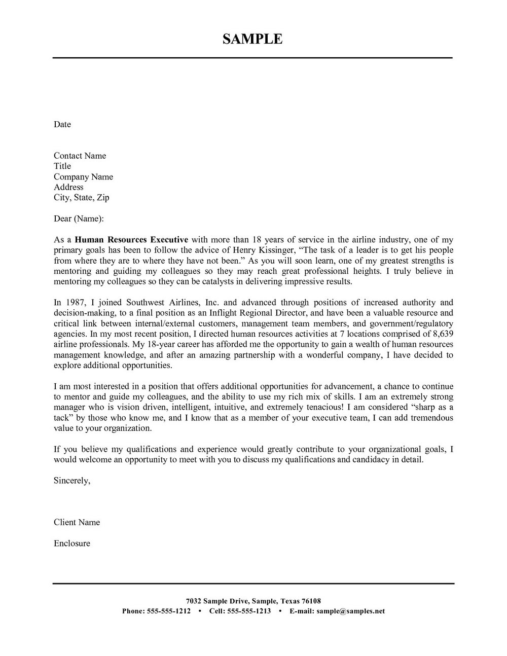 Free Cover Letter Templates Printable