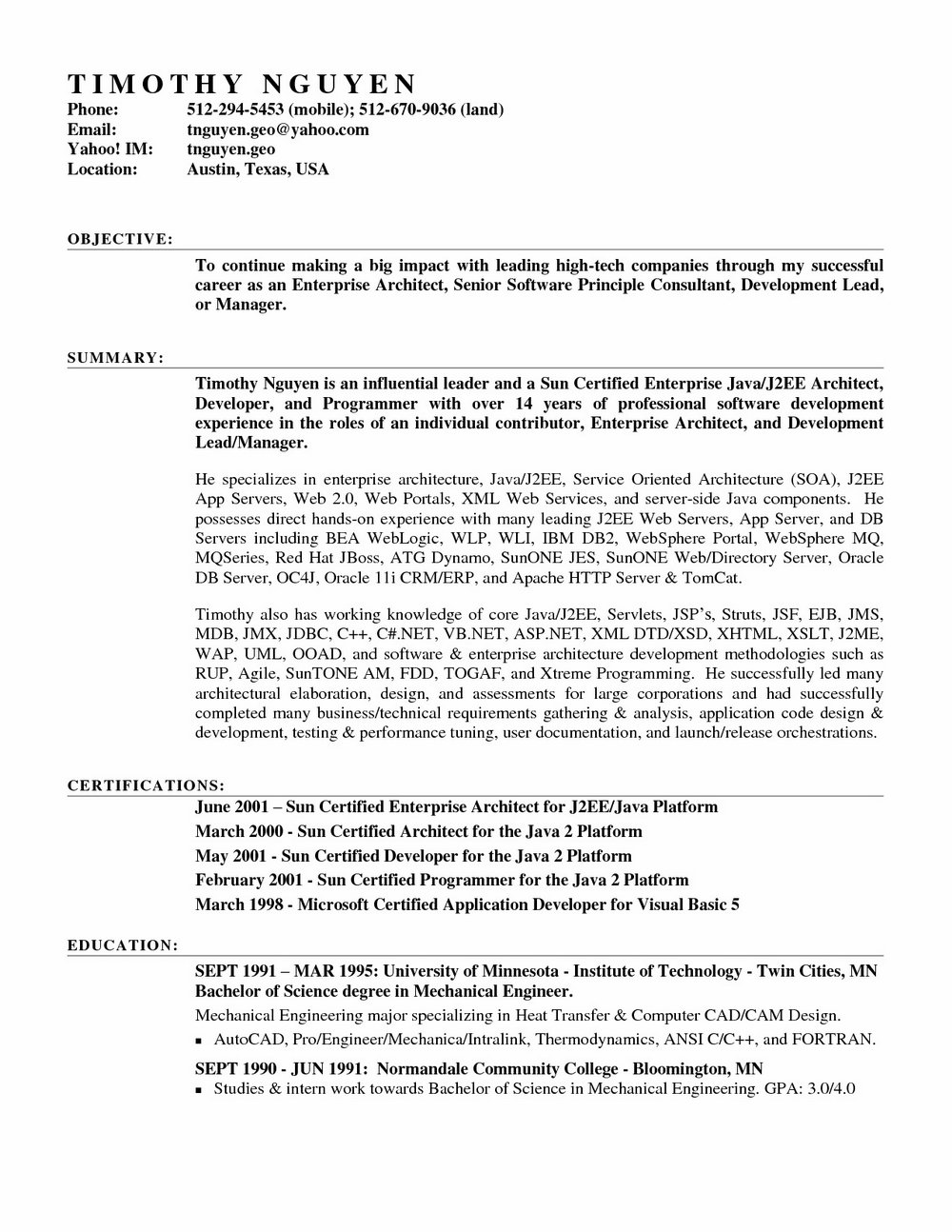Free Professional Cover Letter Sample
