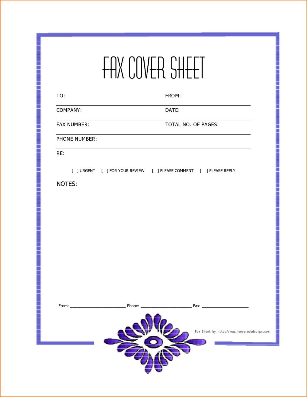 Free Template For Fax Cover Letter