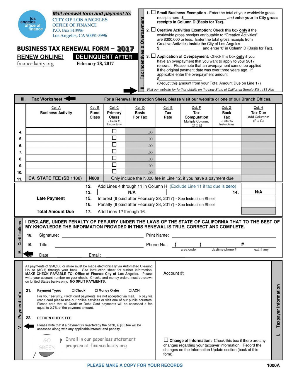 Income Tax Preparation Worksheet 2017