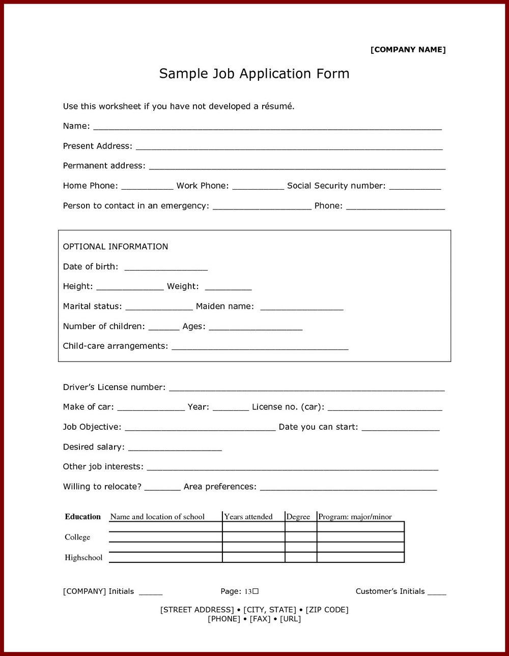 Red Lobster Job Application Form Online