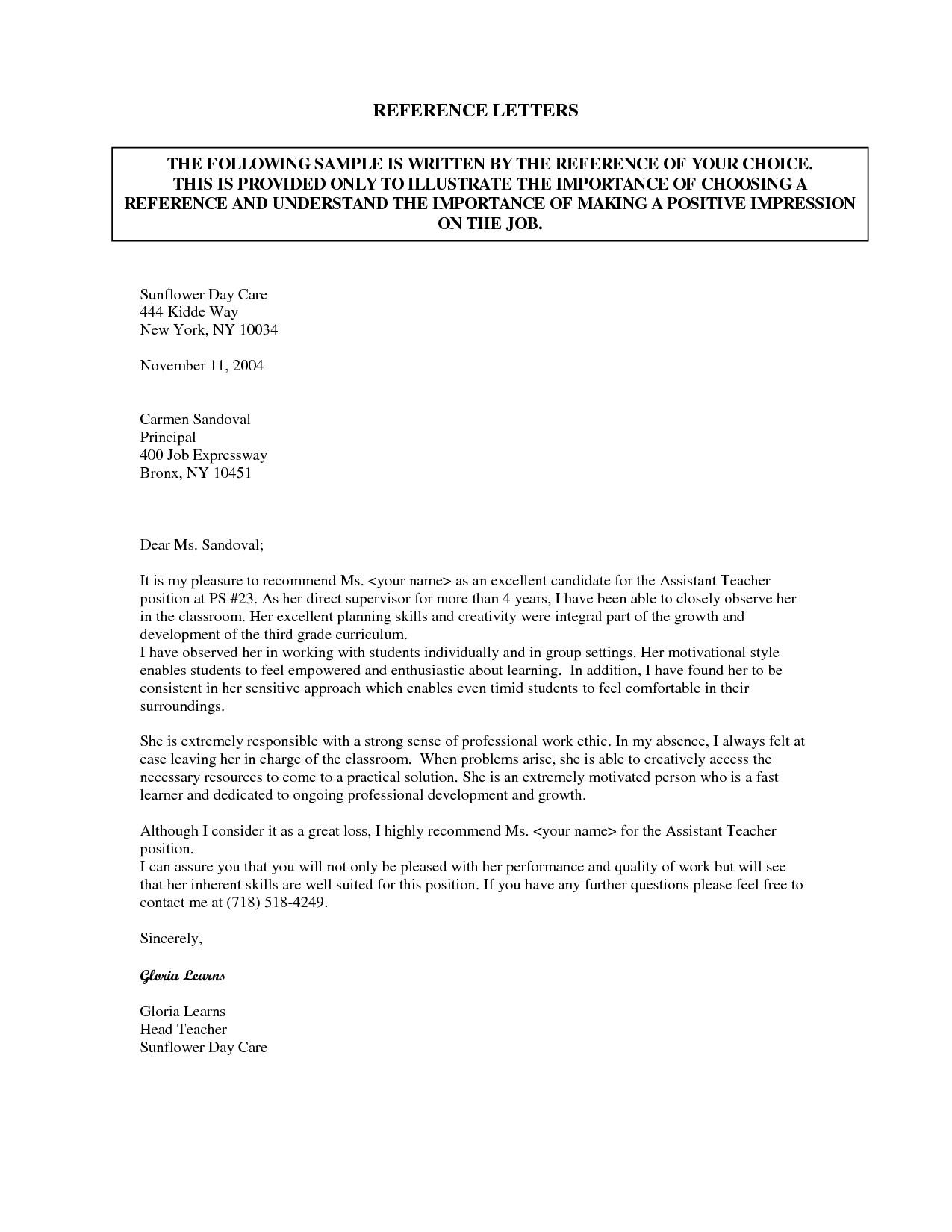 Sample Of Cover Letter For Caregiver Nanny