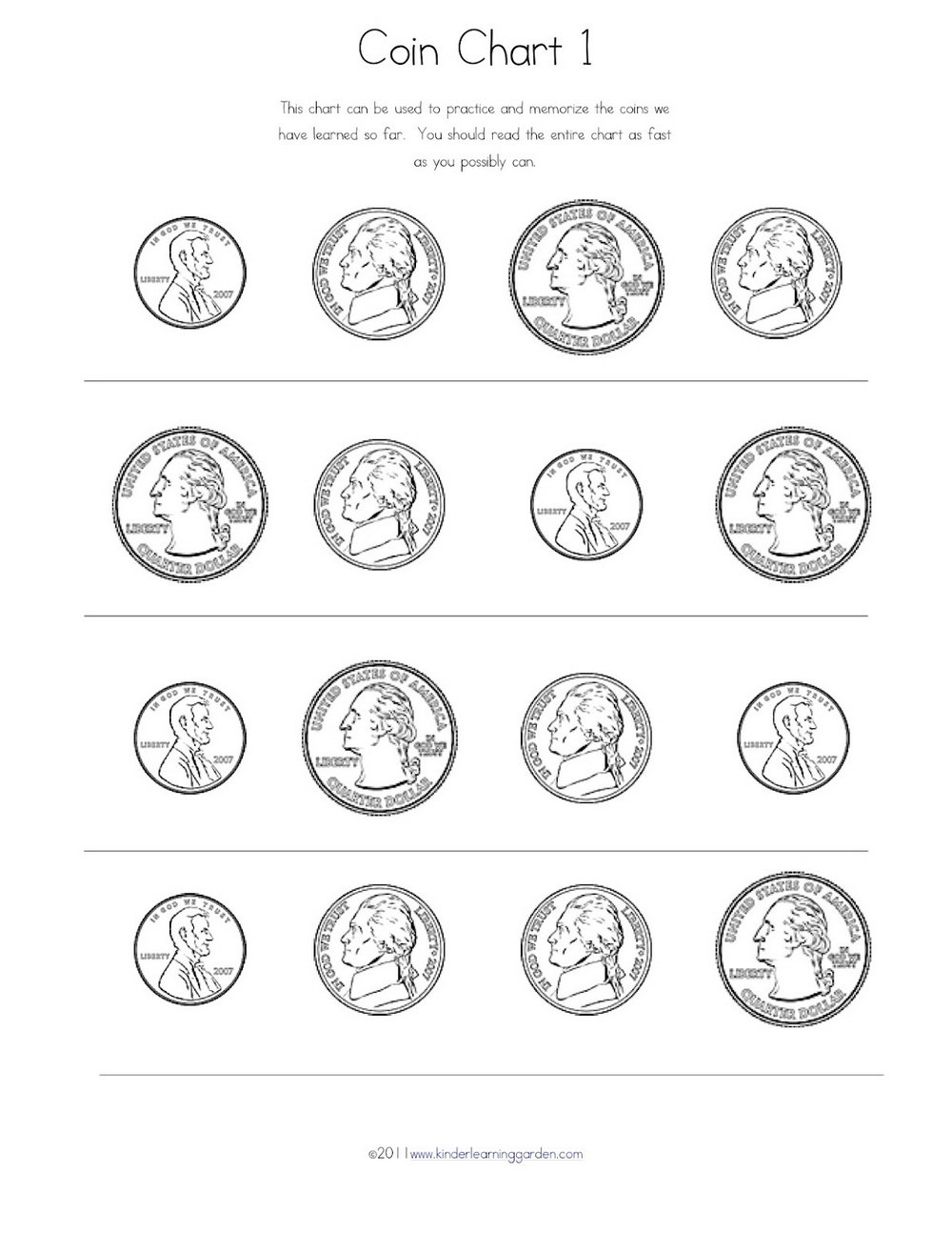 Teaching Coin Values Worksheets