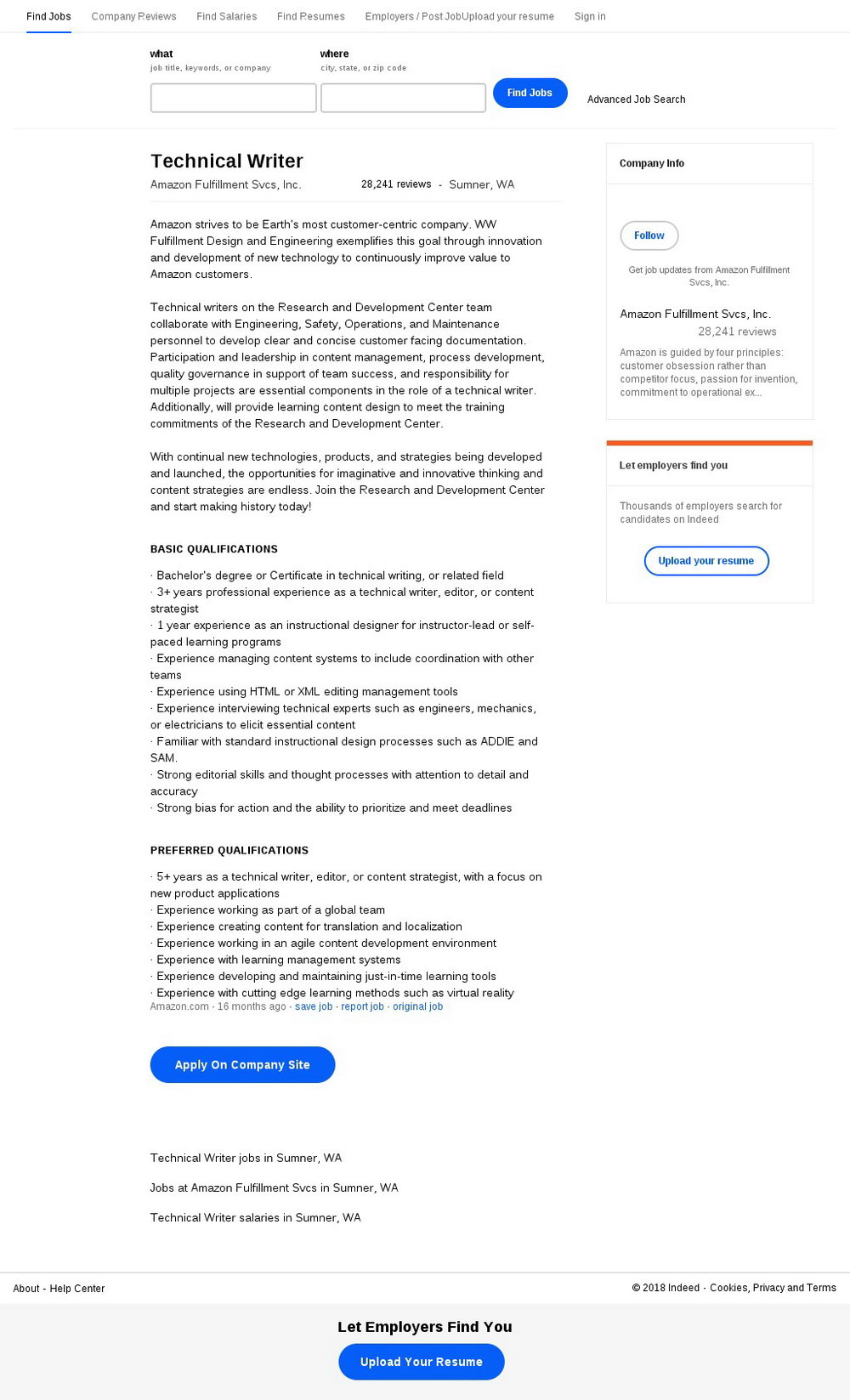 Amazon Fulfillment Job Application