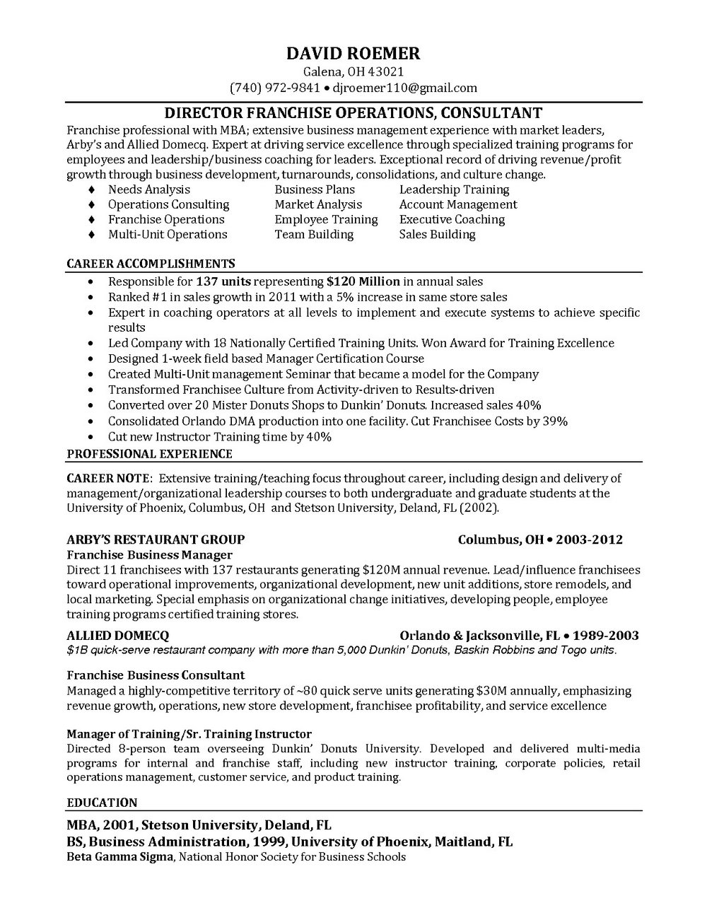 Executive Resume Writing Service Columbus Ohio