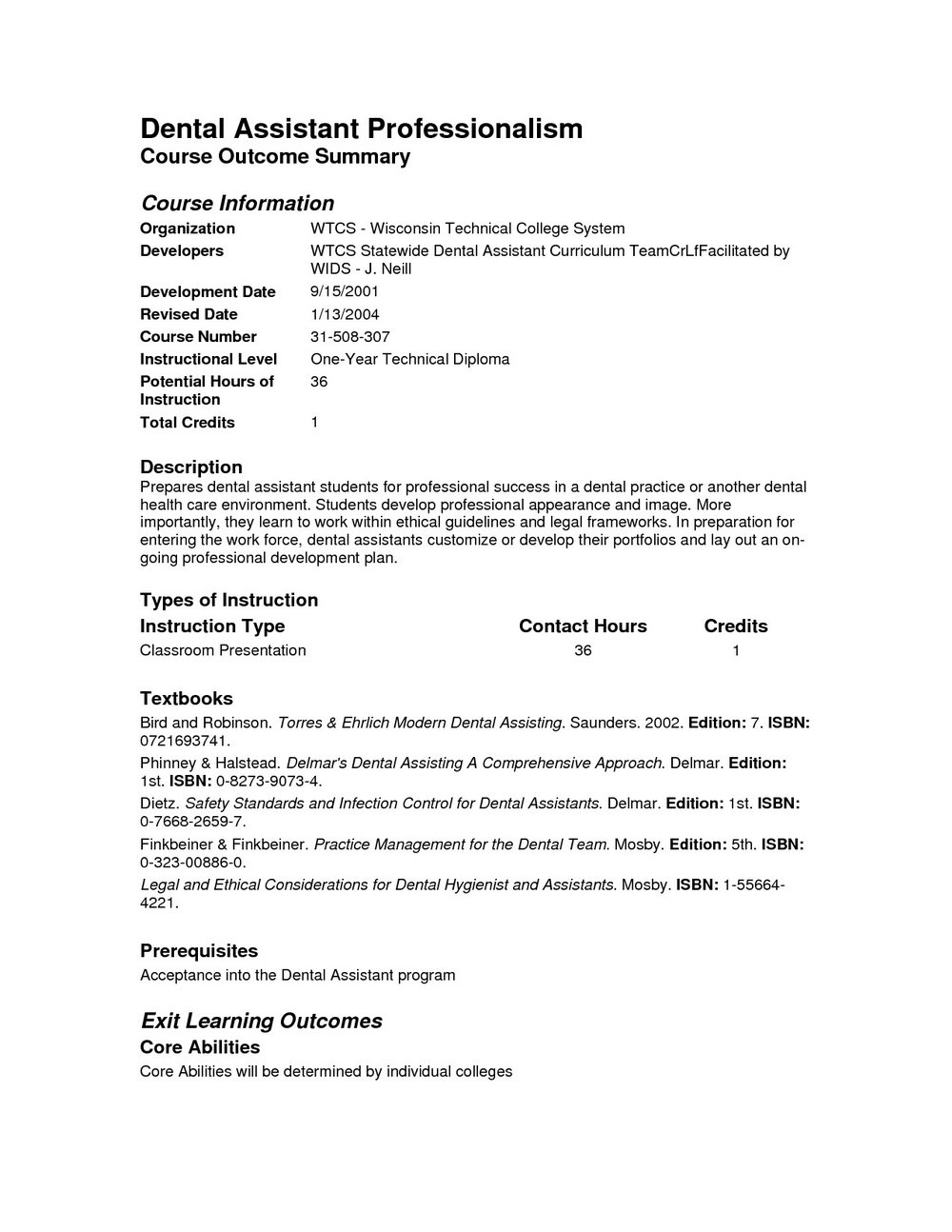 Free Dental Assistant Resume Templates