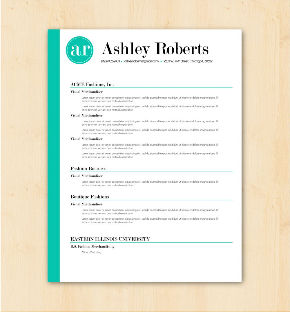 Free Download Resume Format In Word Document