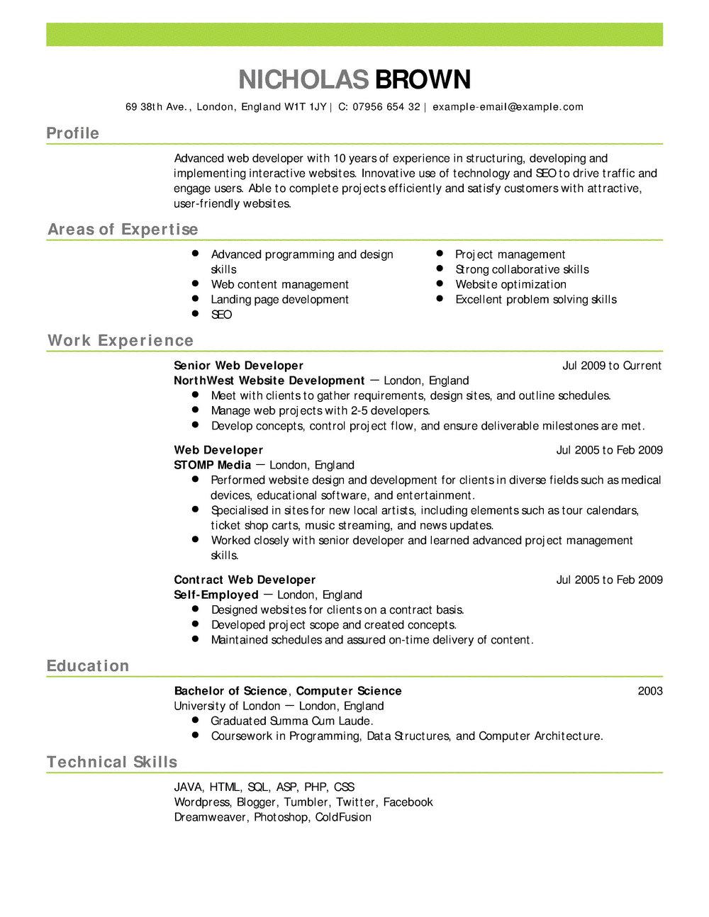 Free Online Resume Builder Australia