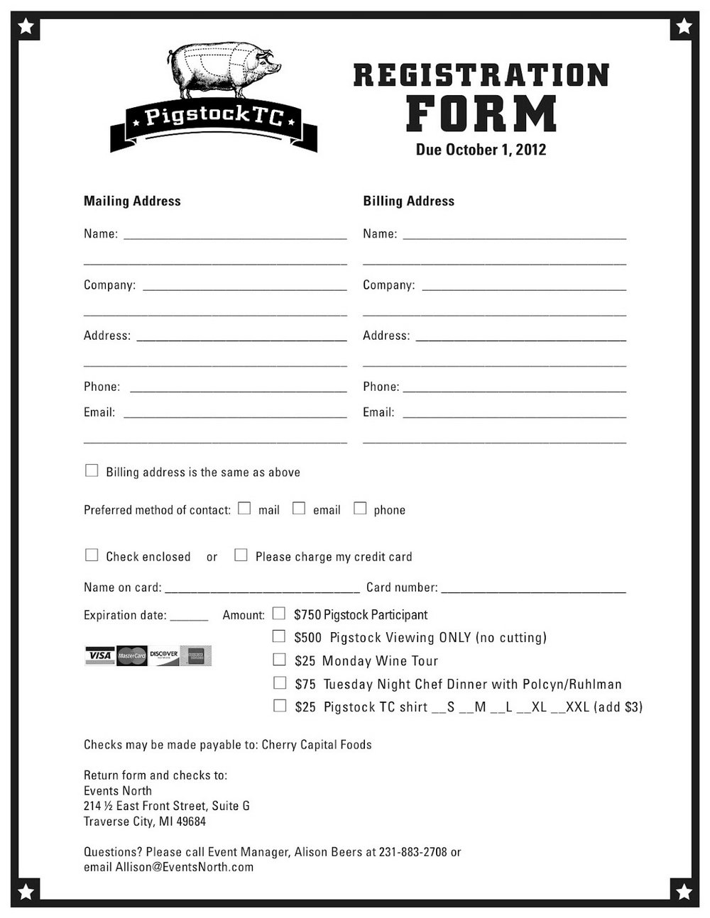 Free Printable Registration Form Template