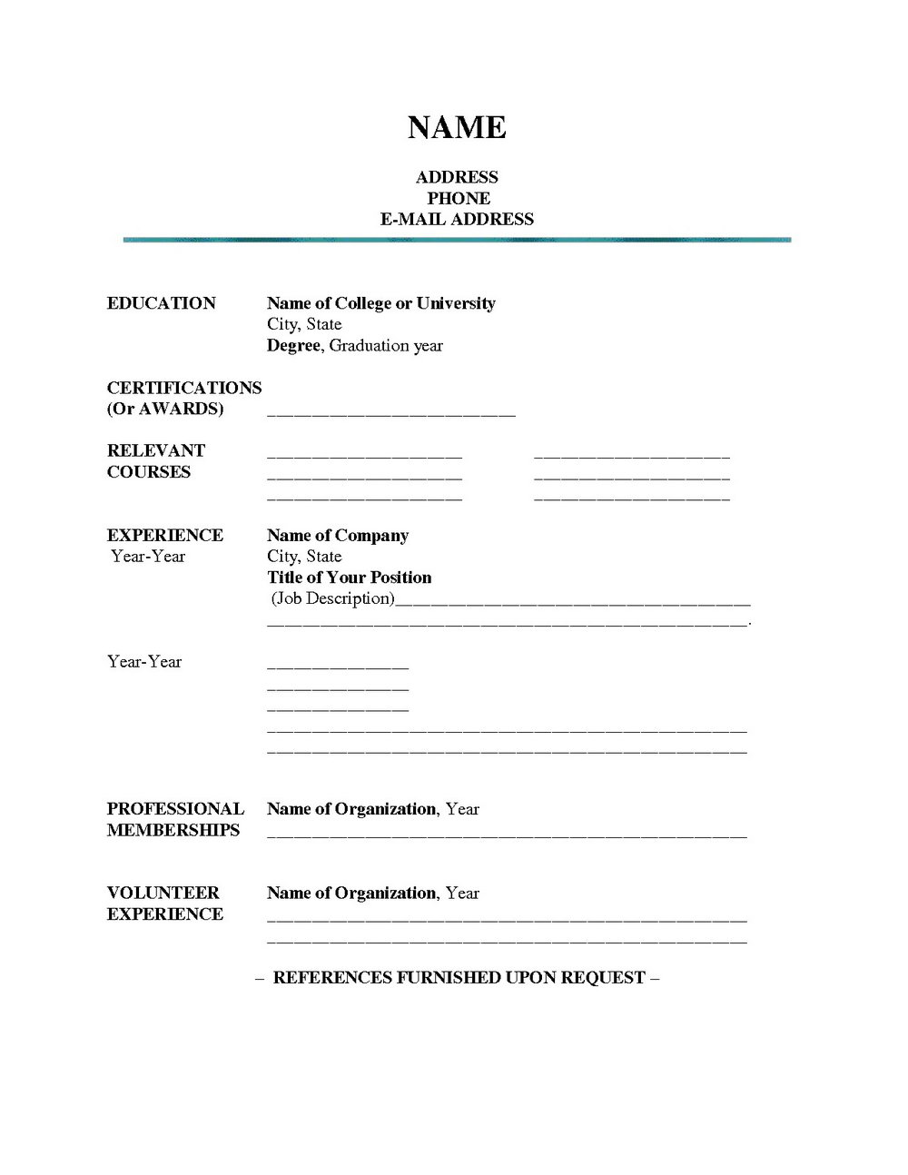 easy online resume creator