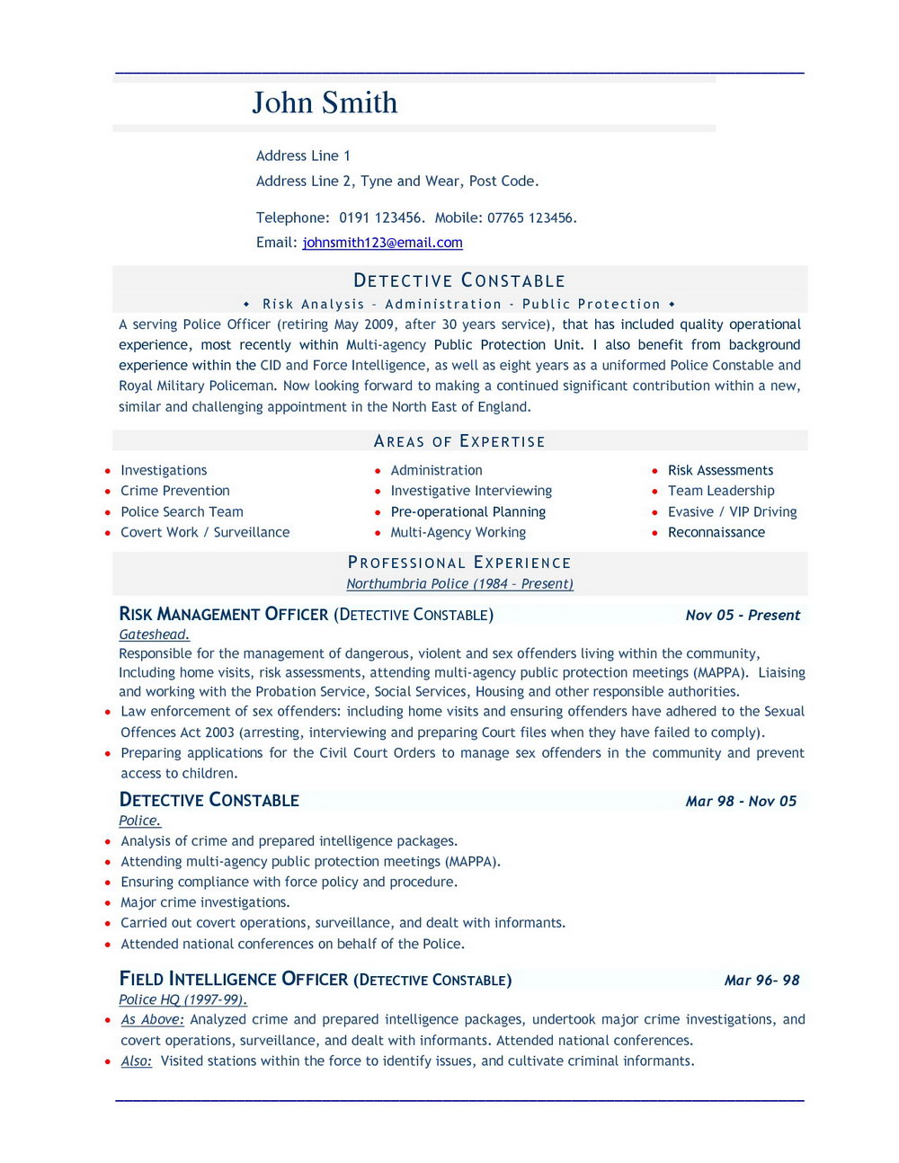 Resume Format Doc File Free Download | Universal Network