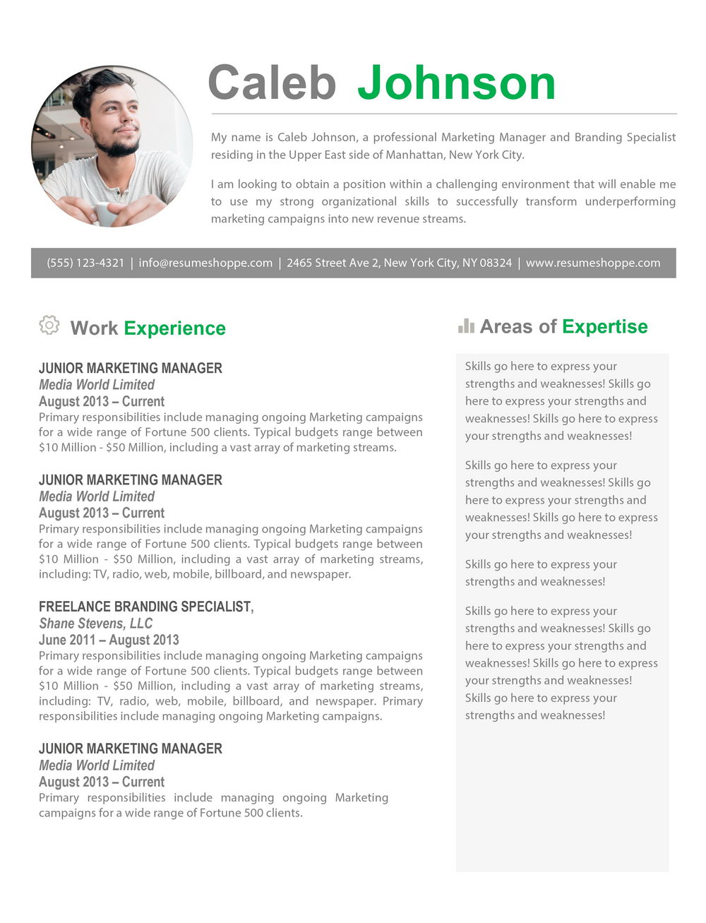 Free Resume Templates Macbook Pro