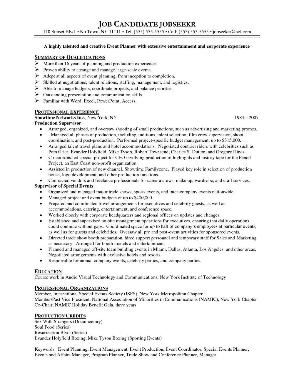 Functional Resume Template Free Word