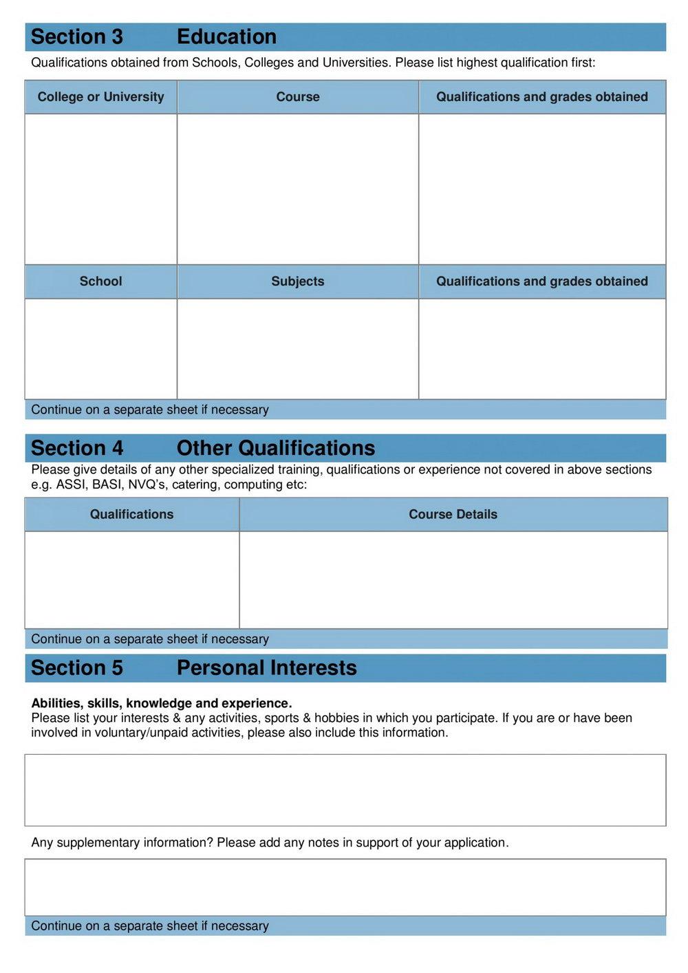 Lowes Job Application Form Pdf