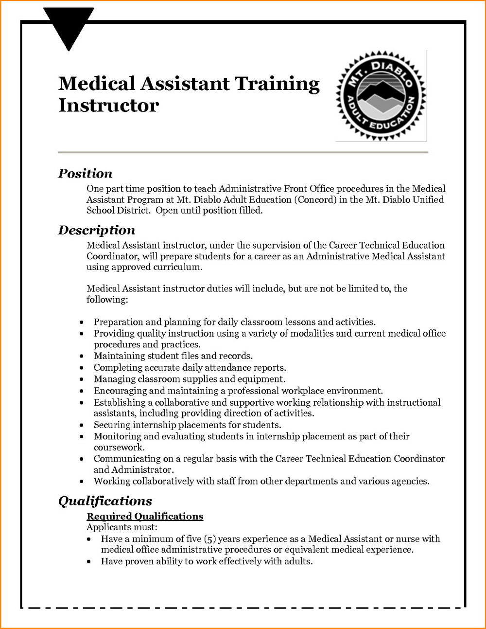 Medical Office Assistant Resumes Samples