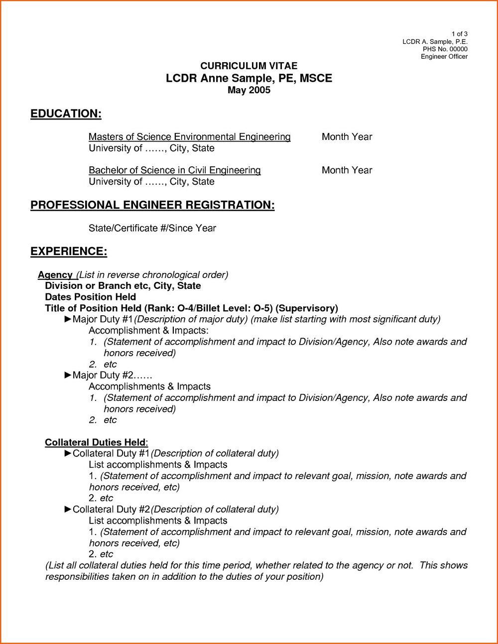Resume Examples Pdf Format