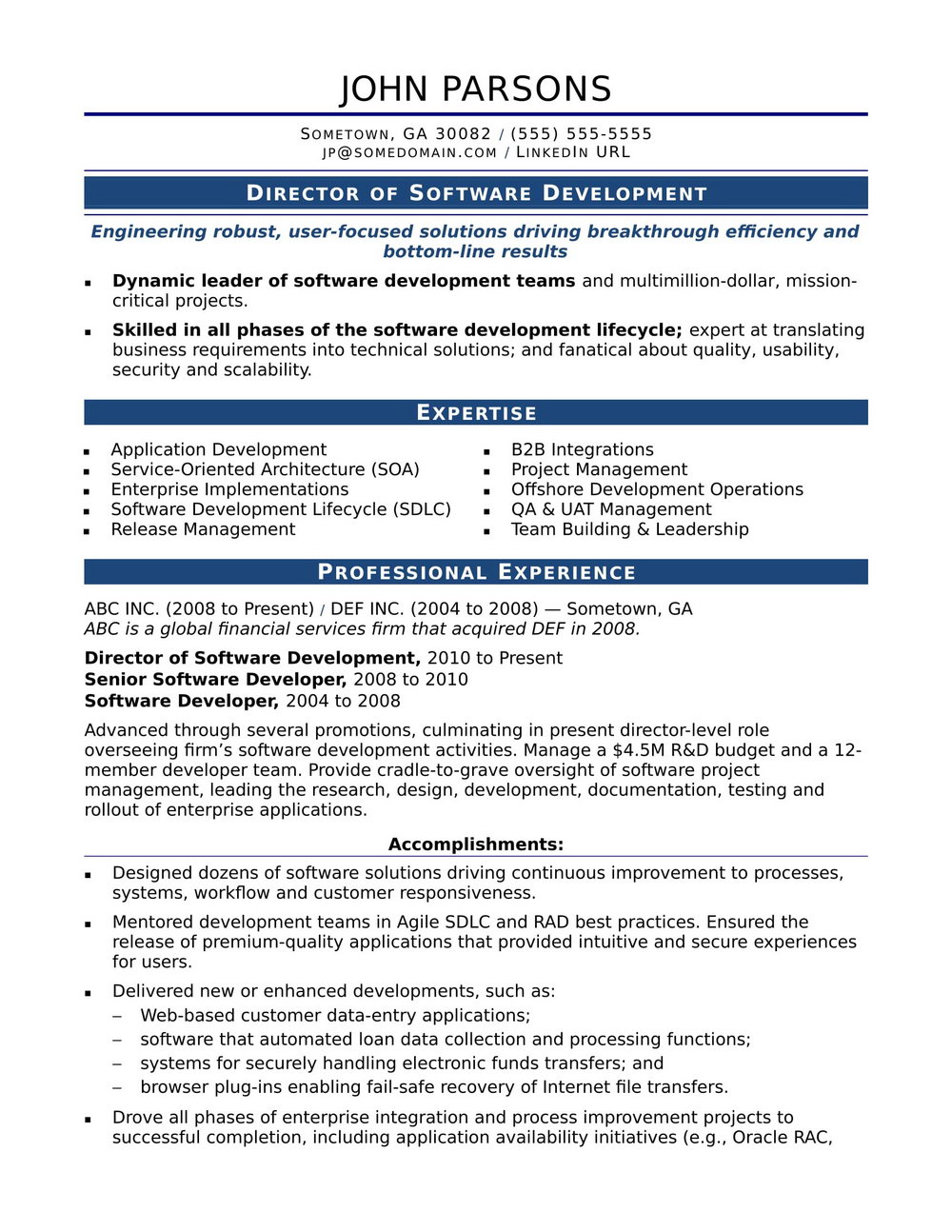 Resume Format Word For Experienced Free Download