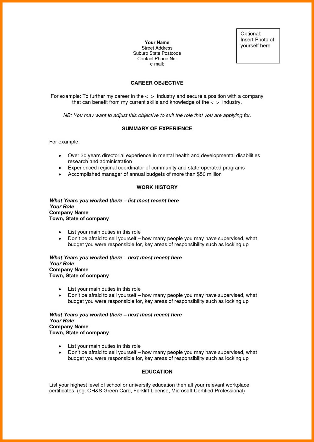 Resume Objective Examples For Nurses