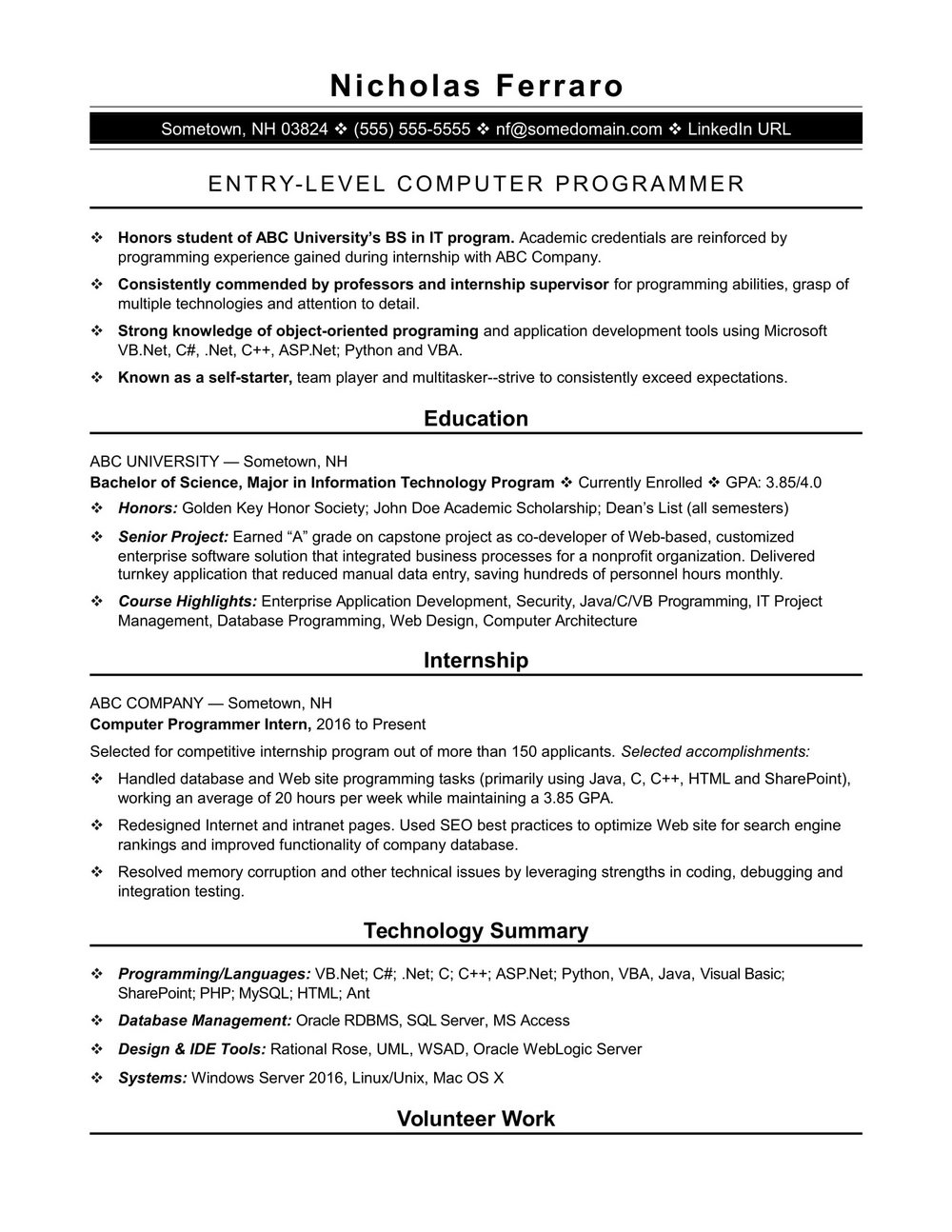 ruby on rails developer resume in usa