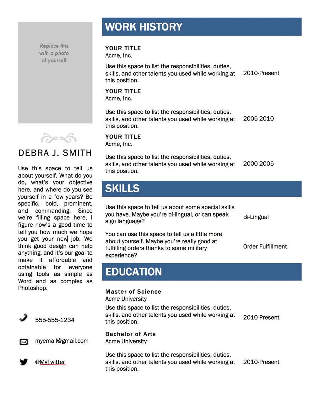 Free Resume Templates Microsoft Word 2003 Universal Network