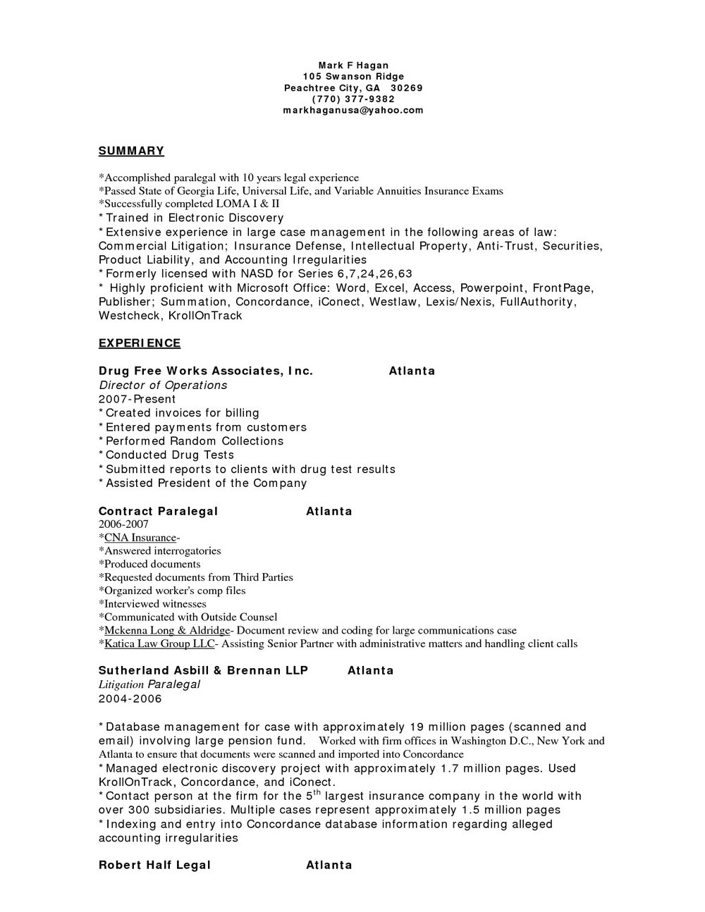 Resume Writing Service Atlanta