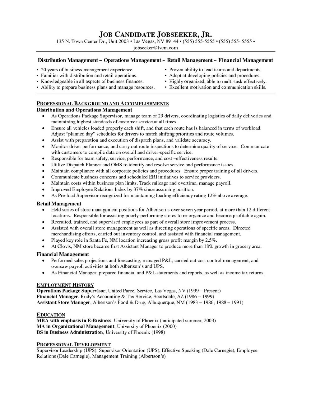 Resume Writing Services For Executives