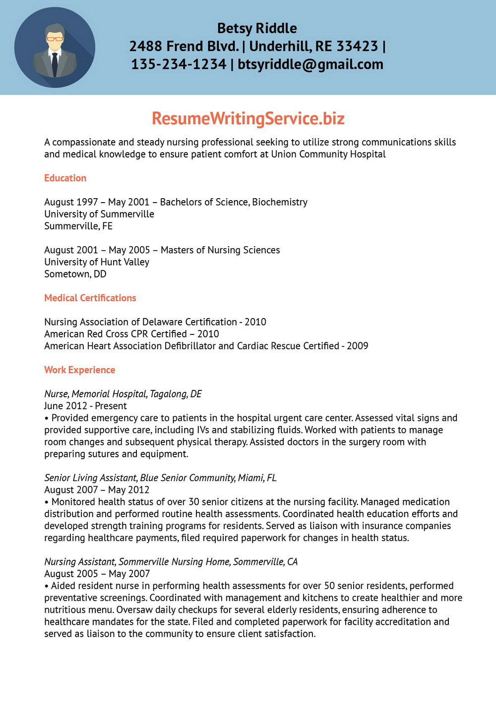 Resume Writing Services For Nurses