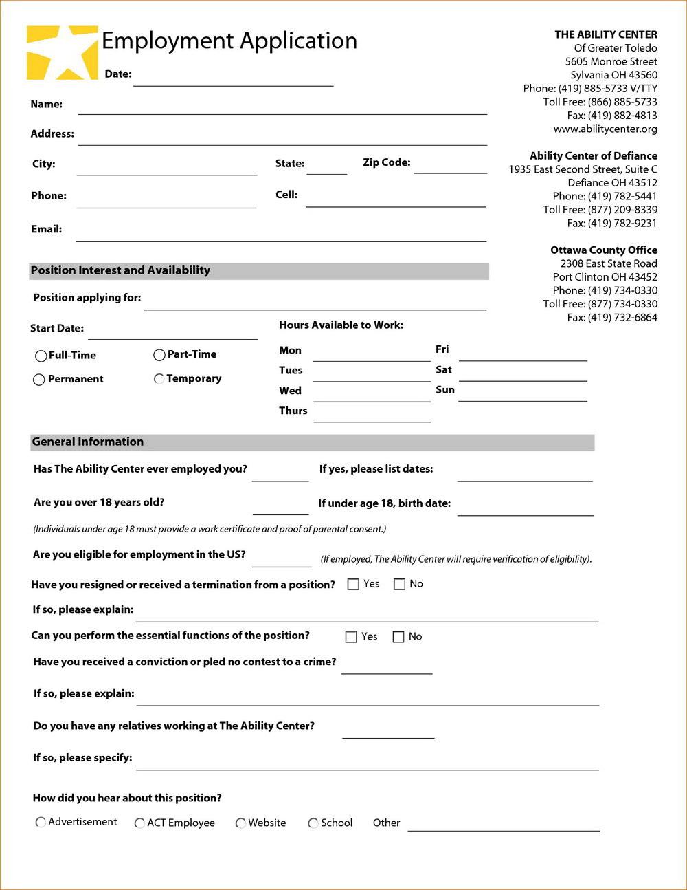 Rgis Job Application Form