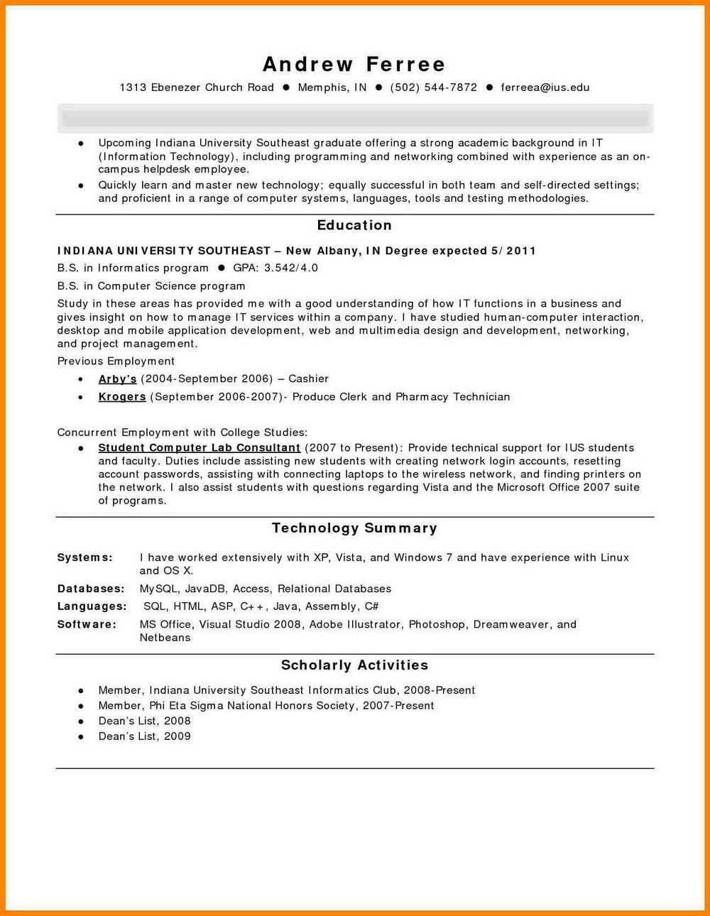 Sample Hospital Pharmacy Technician Resume