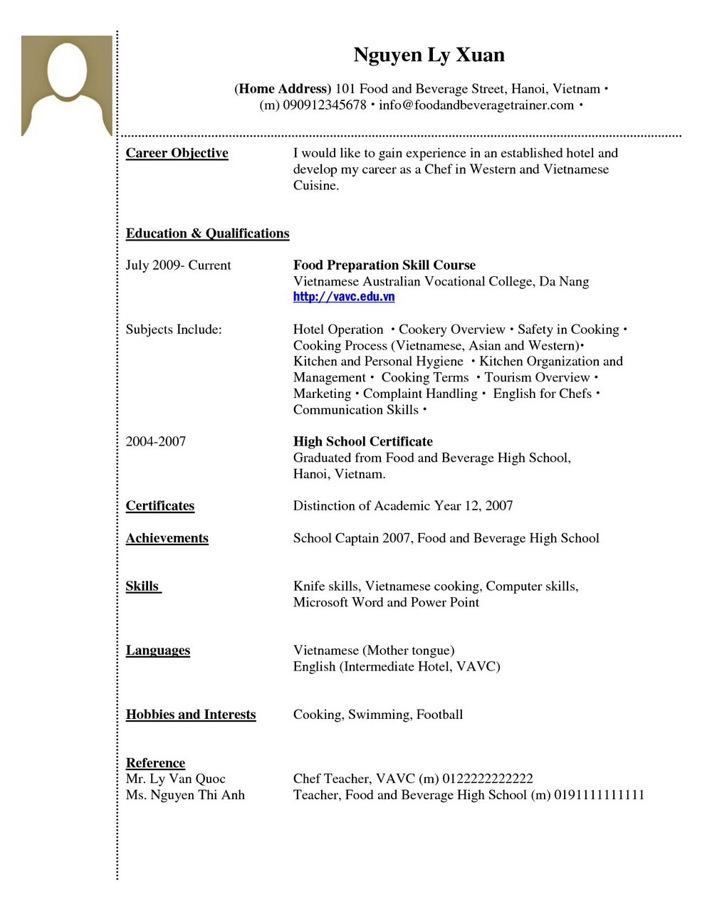 Sample Resume Format For Nurses In The Philippines