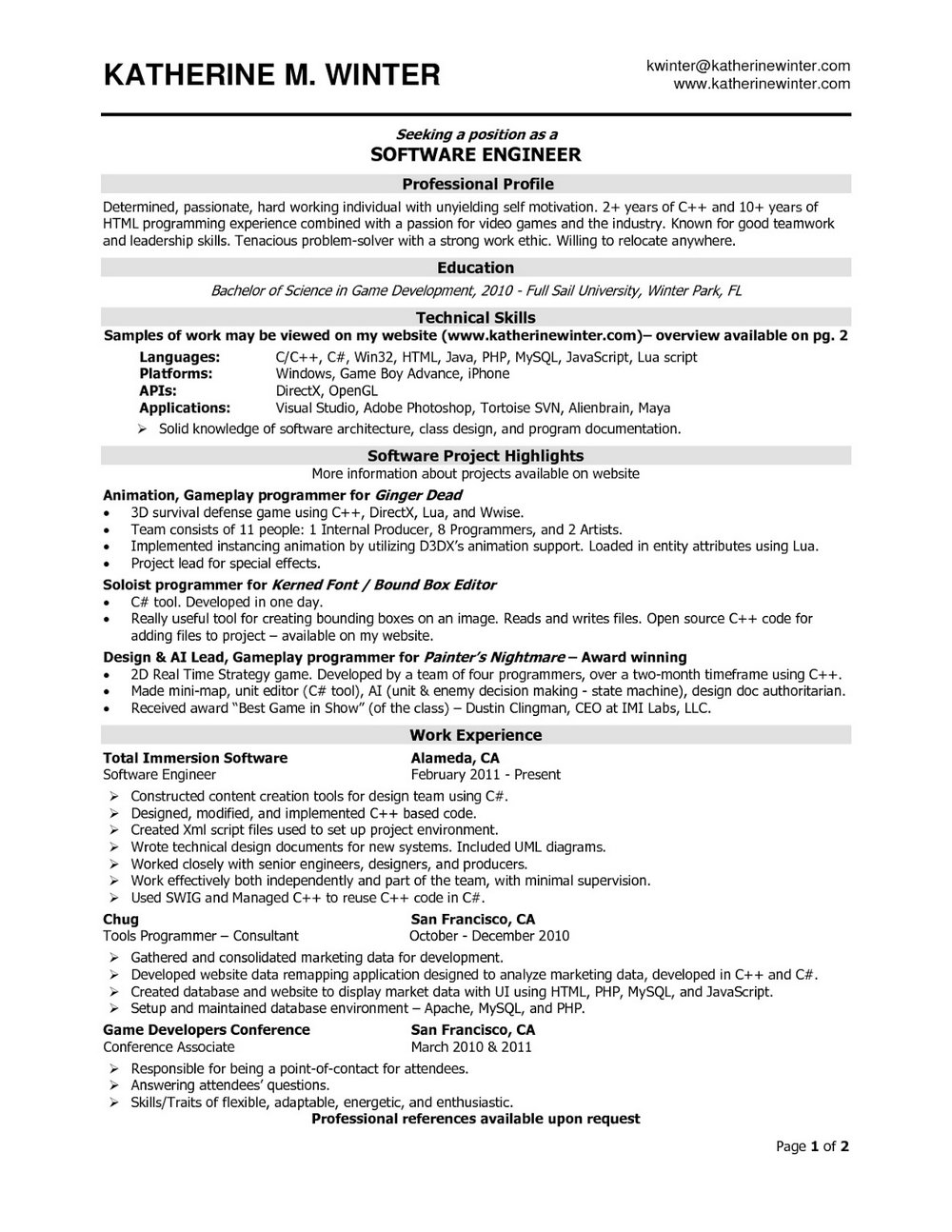 Sample Rn Resume 2 Year Experience