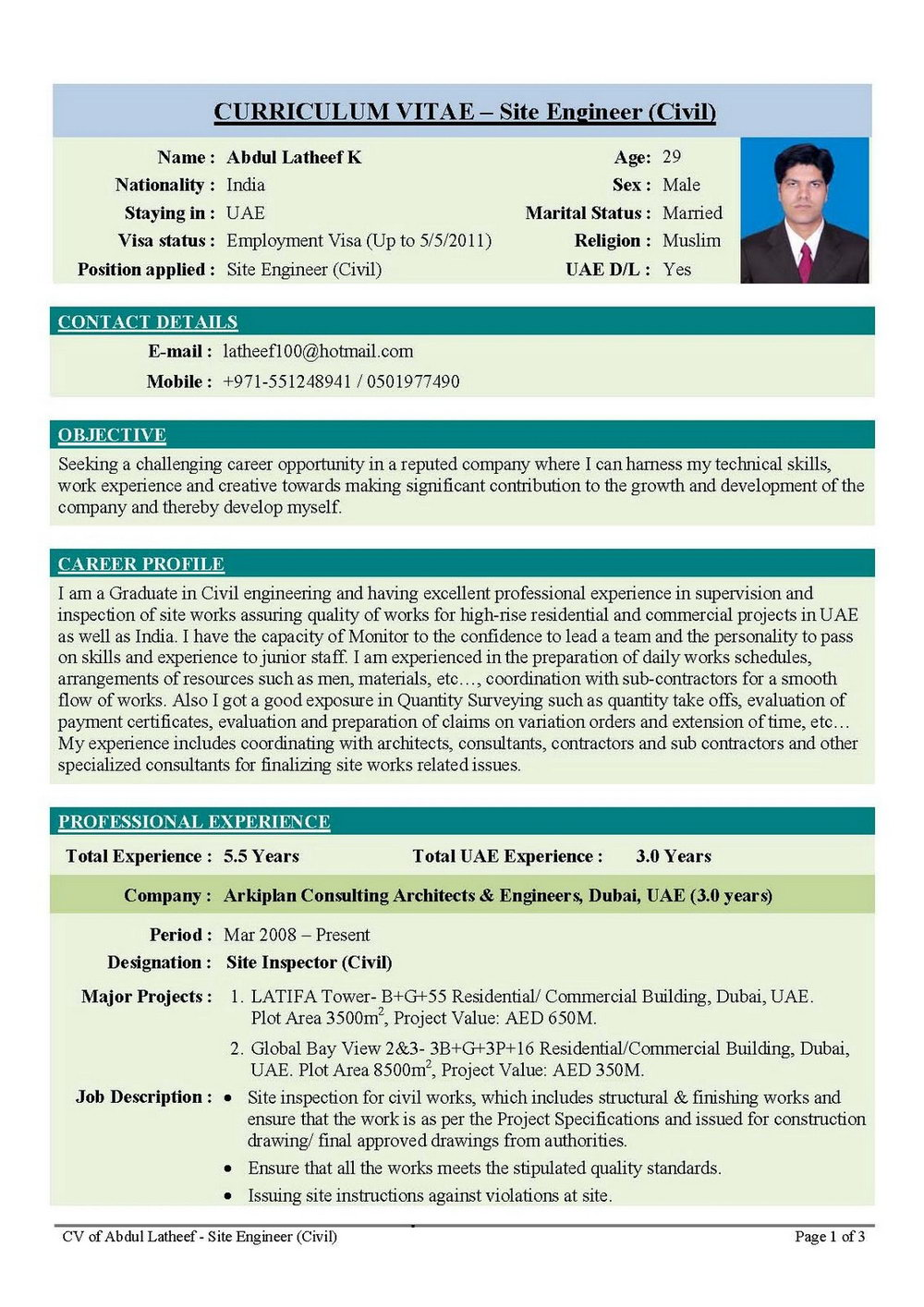 Simple Resume Format For Freshers Engineers Pdf Free Download