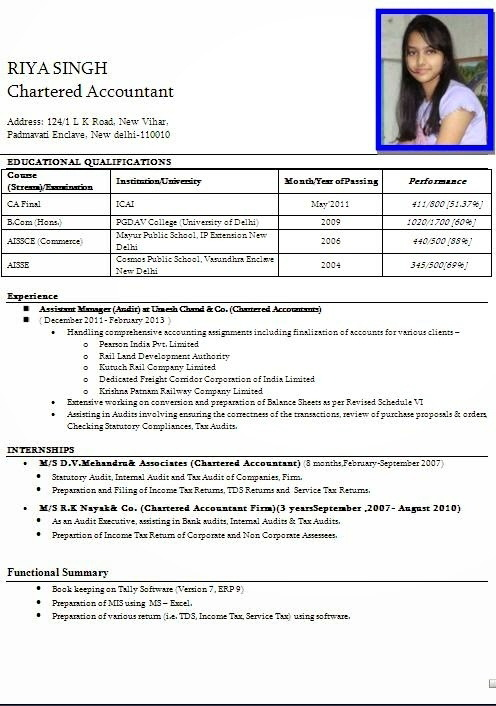 Simple Resume Format For Teacher Job Pdf