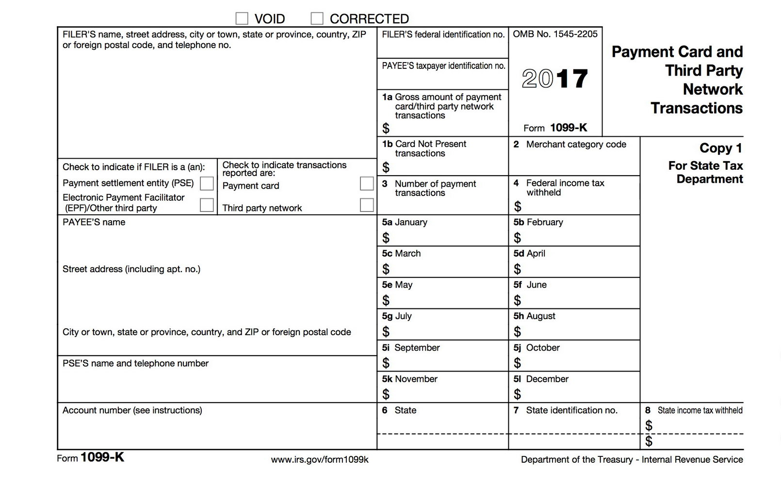1099 Employee Form Printable 2017