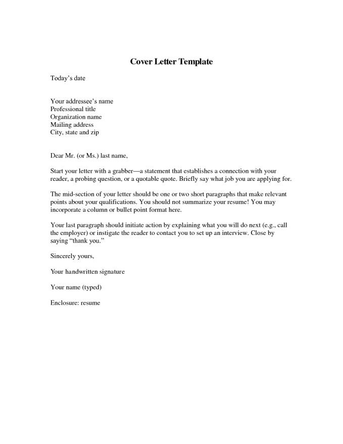 Download Free Sample Resume Cover Letter