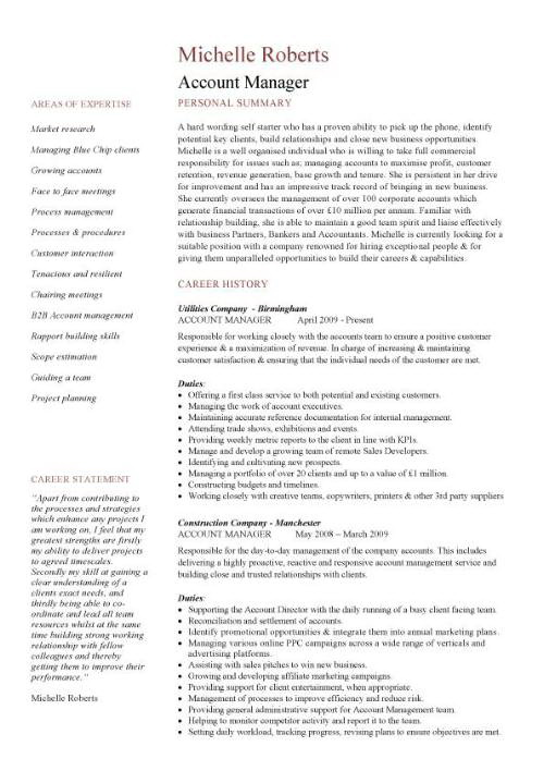 Free Accounting Manager Resume Samples