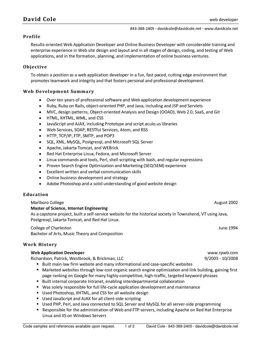 Free Resume Creating Sites