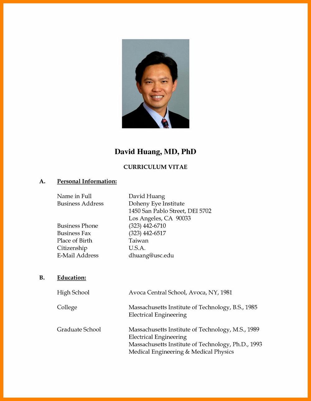 Latest Resume Format Doc For Teachers