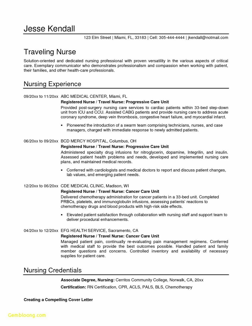 Latest Resume Format For Experienced Free Download