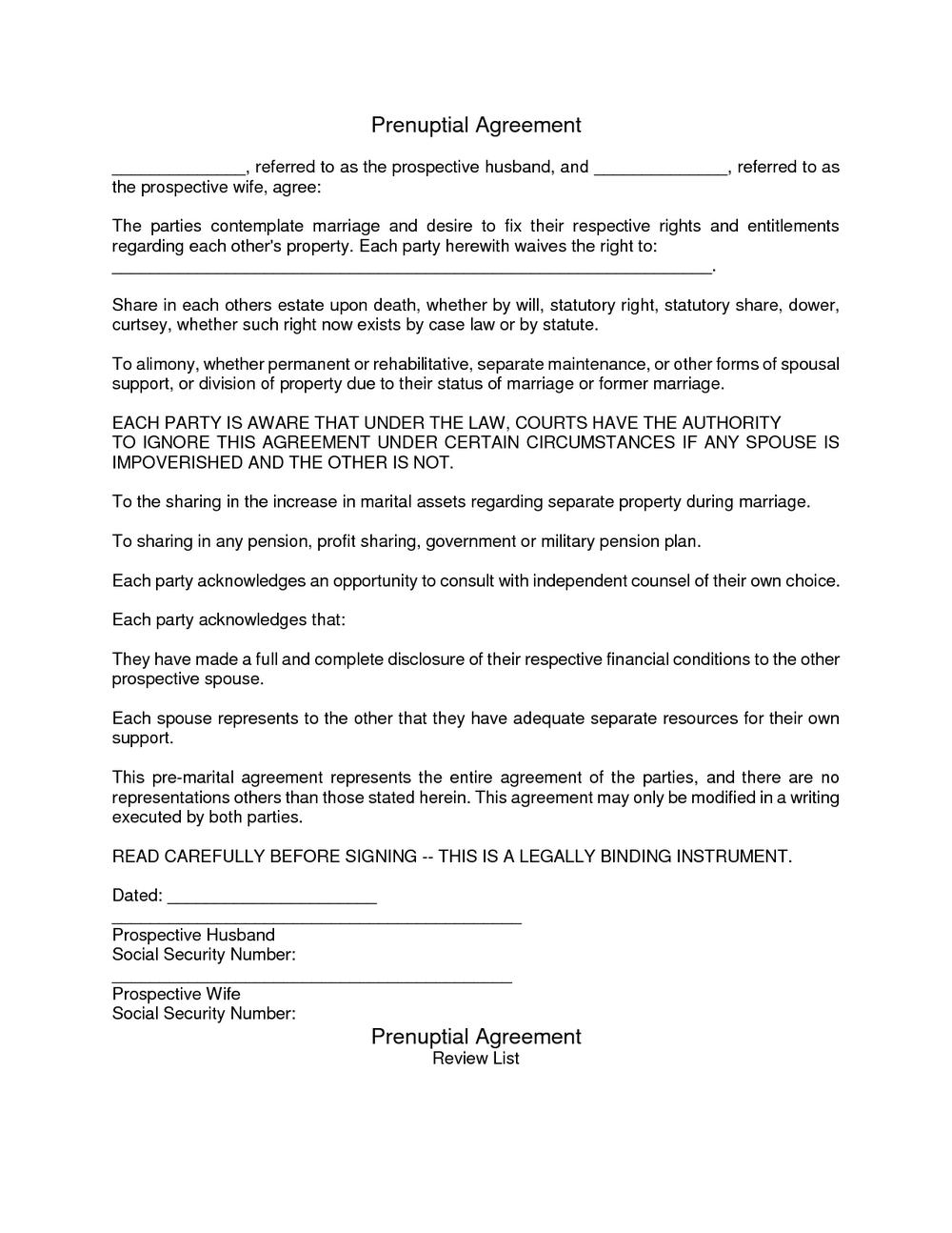 Prenuptial Agreement Form Florida Universal Network