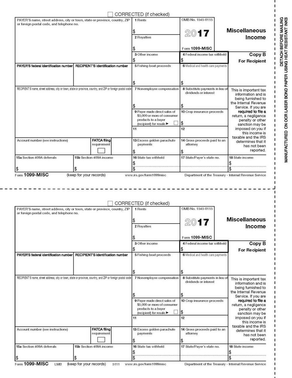 Printable 1099 Form 2016 Pdf