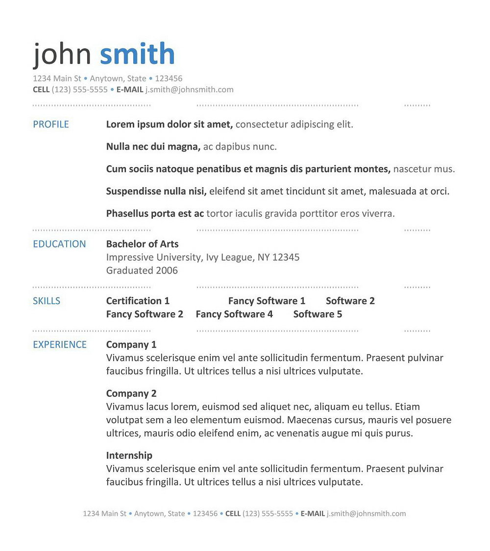 Resume Format Download In Ms Word For Fresher Mechanical