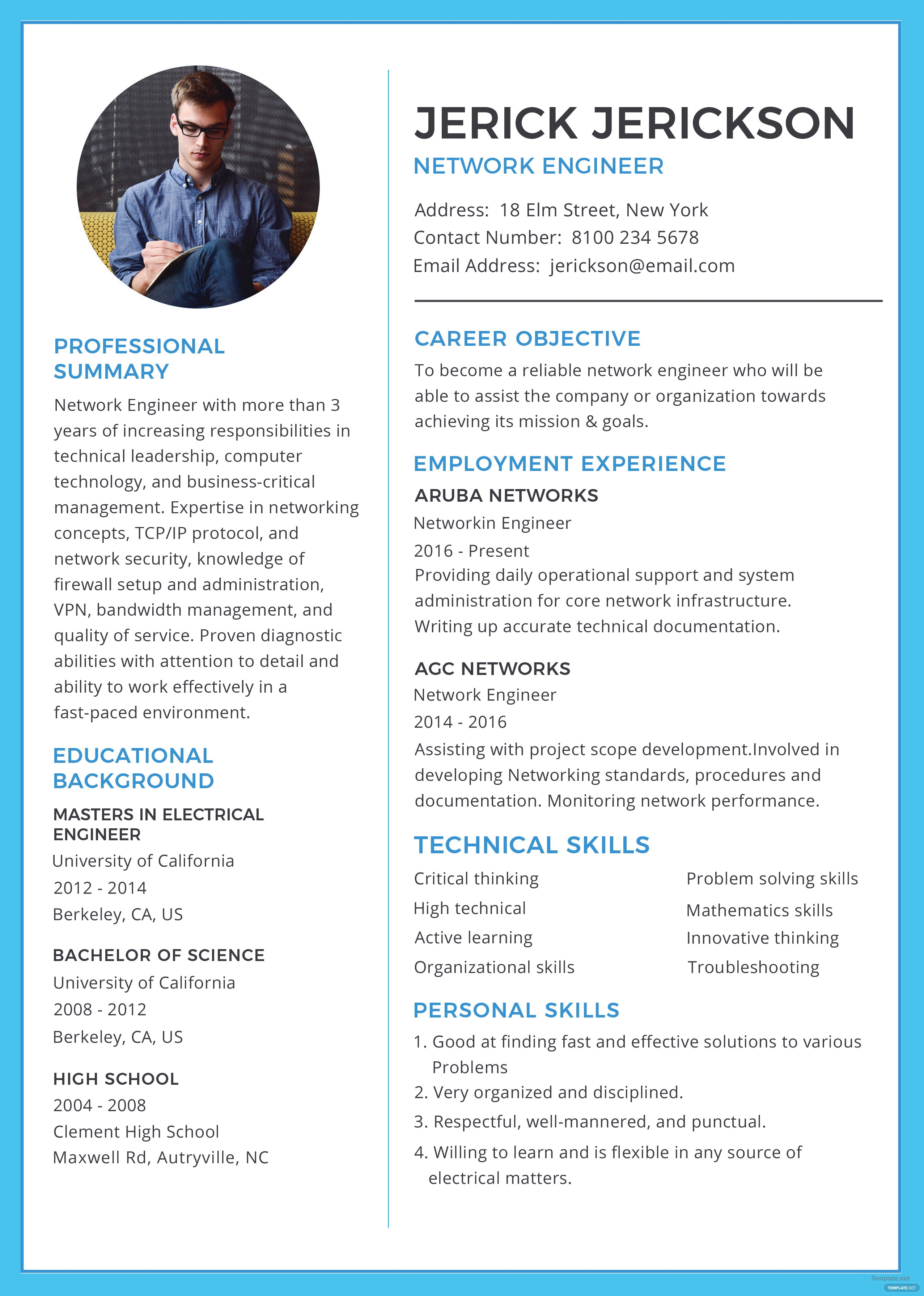 Resume Format For Experienced Electrical Engineers Word Download Free