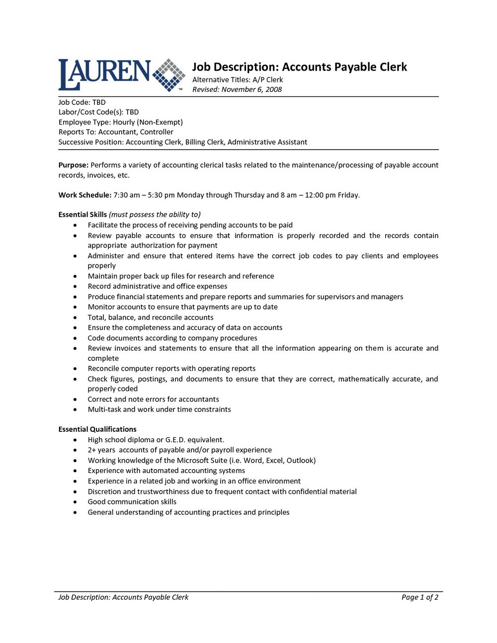 Resume Samples For Accountants Jobs
