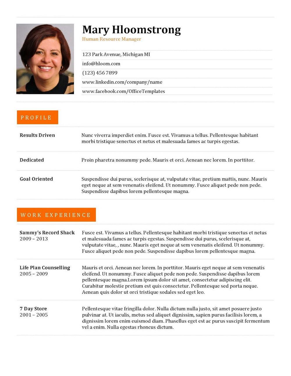 Sample Resume For Jobs In Dubai